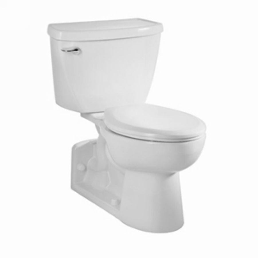 American Standard Yorkville White 1.28-GPF (4.85-LPF) 12-in Rough-In Elongated Pressure Assist 2-Piece Comfort Height Toilet