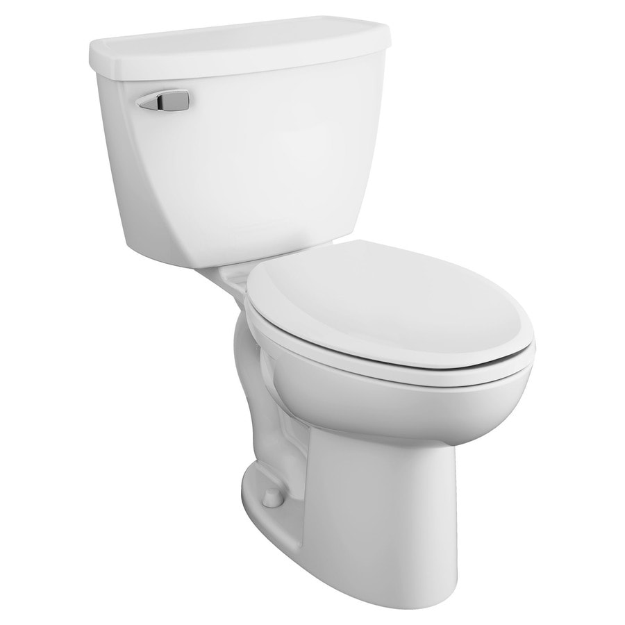 American Standard Cadet White 1.6-GPF (6.06-LPF) 12-in Rough-In Elongated Pressure Assist 2-Piece Comfort Height Toilet