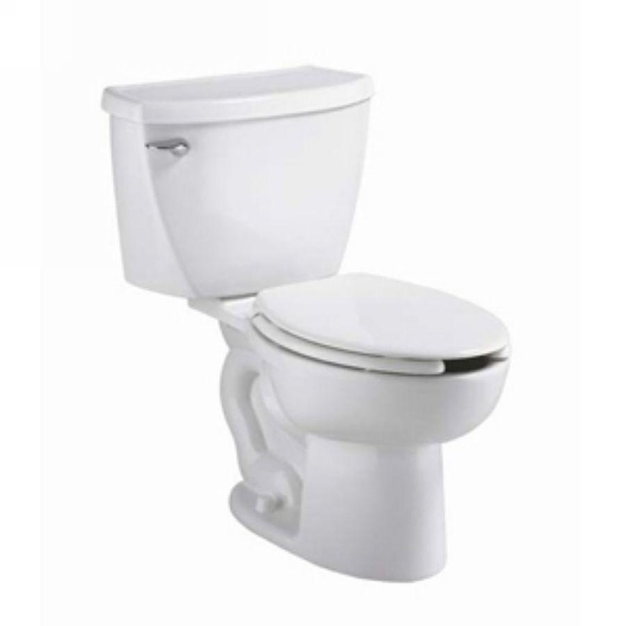 American Standard Cadet FloWise White 1.1-GPF (4.16-LPF) 12 Rough-In WaterSense Elongated Pressure Assist 2-Piece Chair Height Toilet