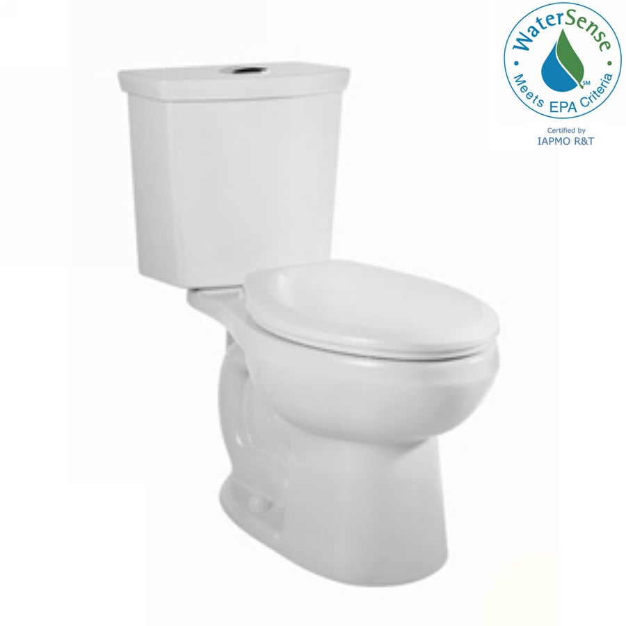 American Standard H2Option White 1.28-GPF 12-in Rough-In WaterSense Elongated Dual-Flush 2-Piece Comfort Height Toilet