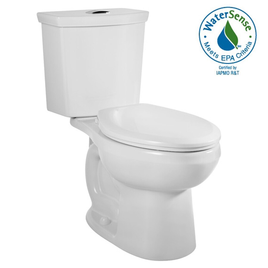 American Standard H2Option White 1.6; 1.1-GPF 12-in Rough-In WaterSense Elongated Dual-Flush 2-Piece Comfort Height Toilet