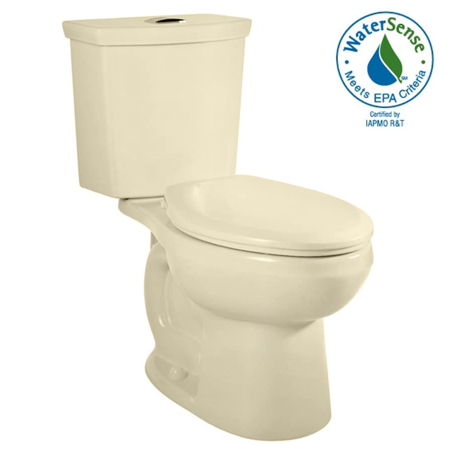 American Standard H2Option Bone 1.6; 1.1-GPF 12-in Rough-in WaterSense Elongated Dual-Flush 2-Piece Comfort Height Toilet