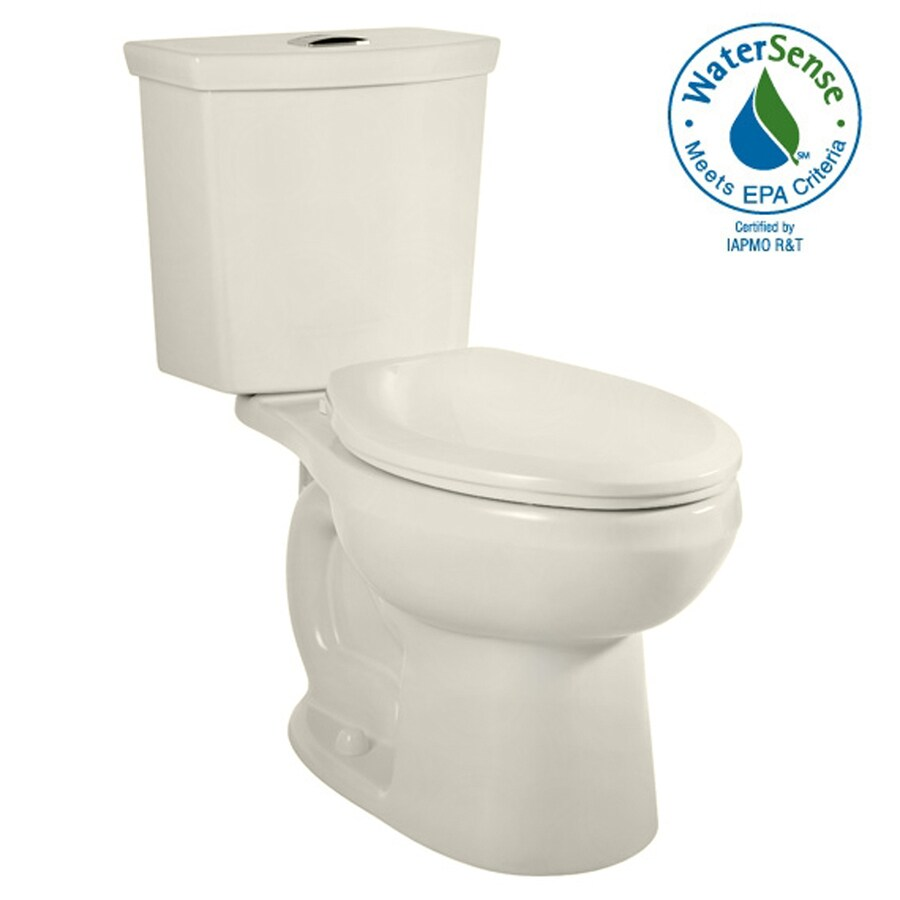 American Standard H2Option Linen 1.6; 1.0-GPF 12-in Rough-in WaterSense Elongated Dual-Flush 2-Piece Comfort Height Toilet