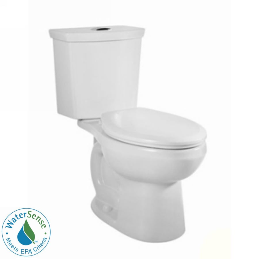 American Standard H2Option White 1.6-GPF 12-in Rough-in WaterSense Elongated Dual-Flush 2-Piece Standard Height Toilet