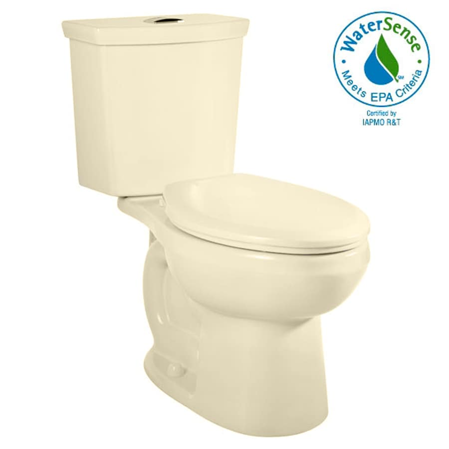 American Standard H2Option Bone 1.6; 1.1-GPF 12-in Rough-in WaterSense Elongated Dual-Flush 2-Piece Standard Height Toilet