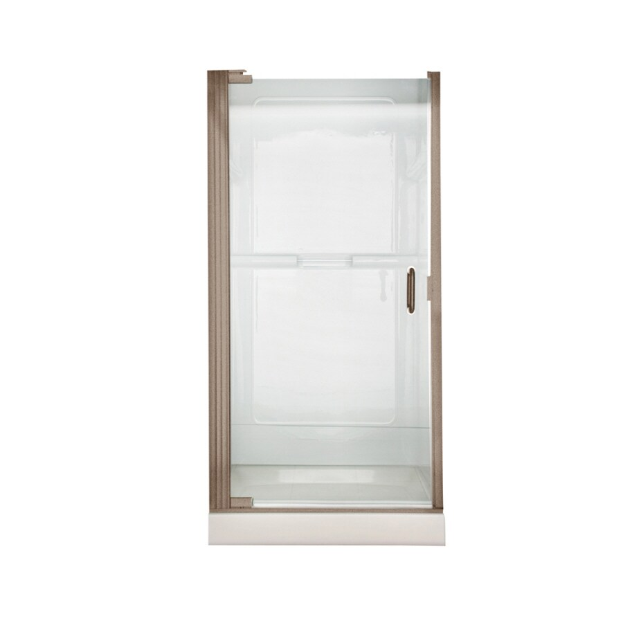 American Standard 24.5625-in to 25.4375-in Frameless Pivot Shower Door