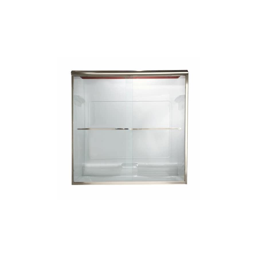American Standard Euro 40-in to 44-in W x 70-in H Polished Nickel Sliding Shower Door