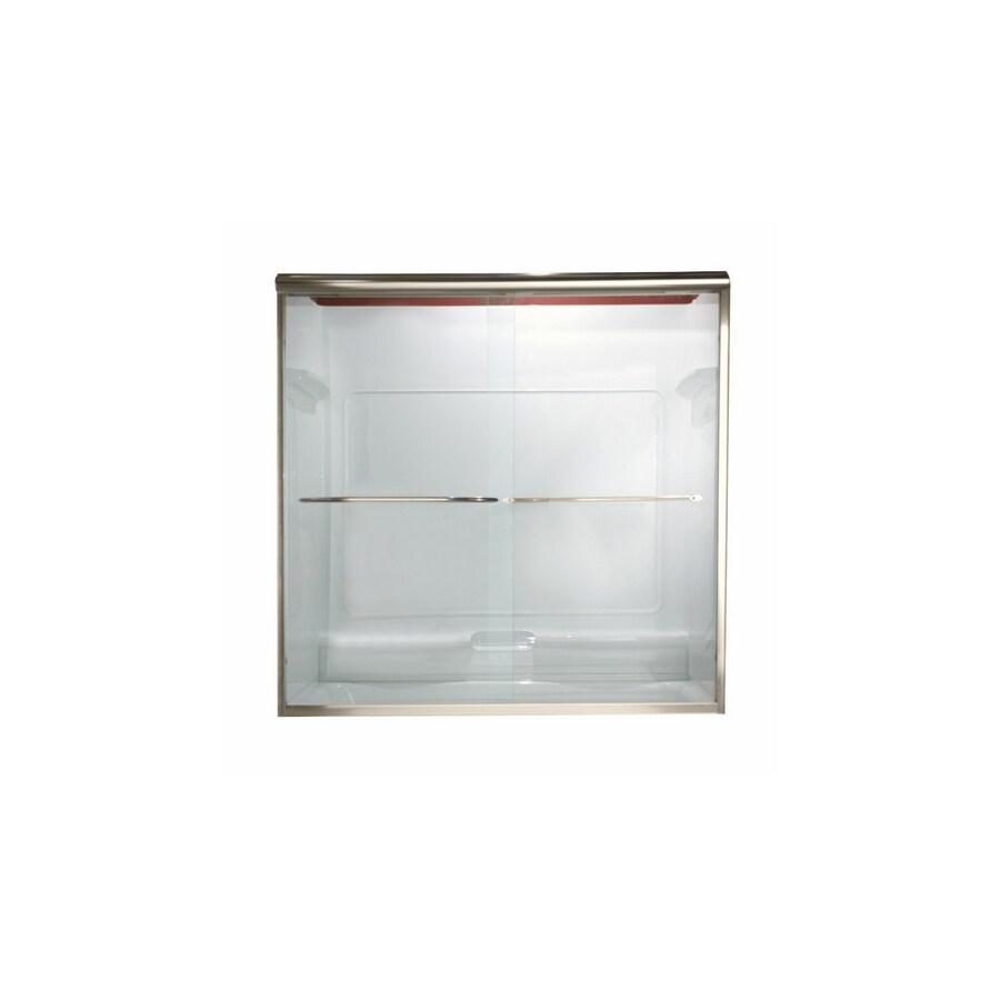 American Standard Euro 44-in to 48-in W x 65.5-in H Polished Nickel Sliding Shower Door