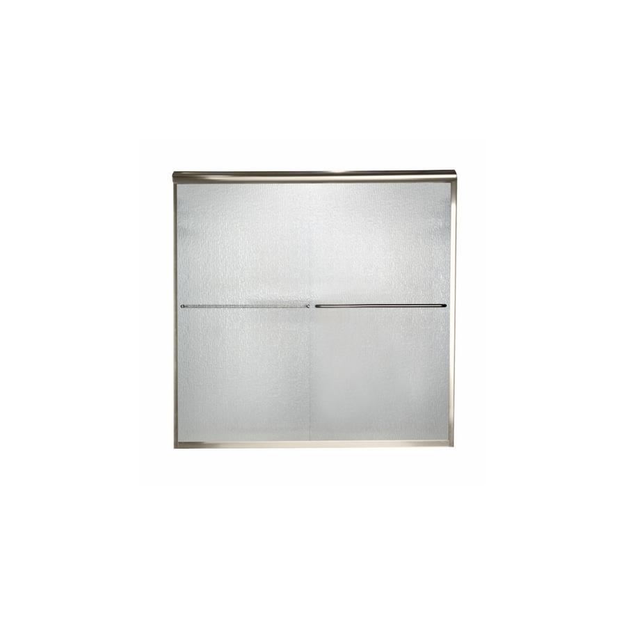 American Standard Euro 44-in to 48-in W x 70-in H Polished Nickel Sliding Shower Door