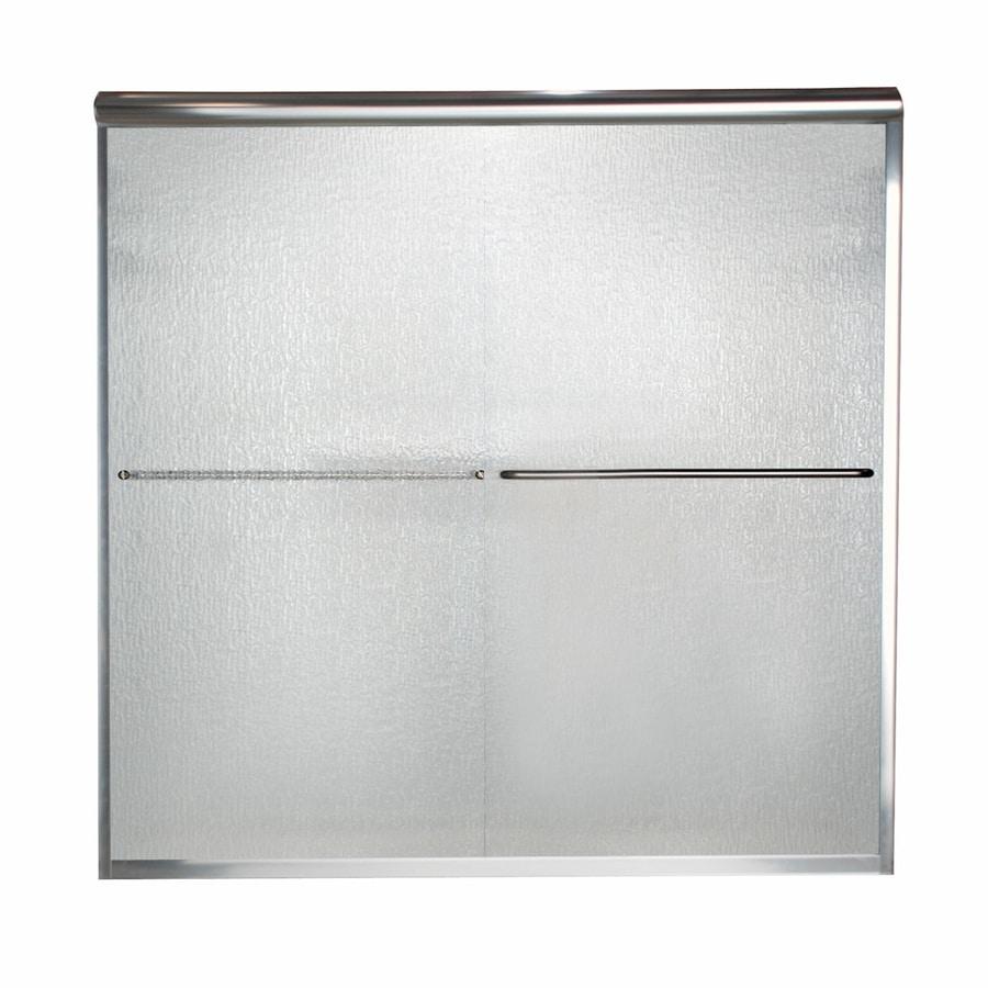 American Standard Euro 56-in to 60-in W x 70-in H Silver Sliding Shower Door
