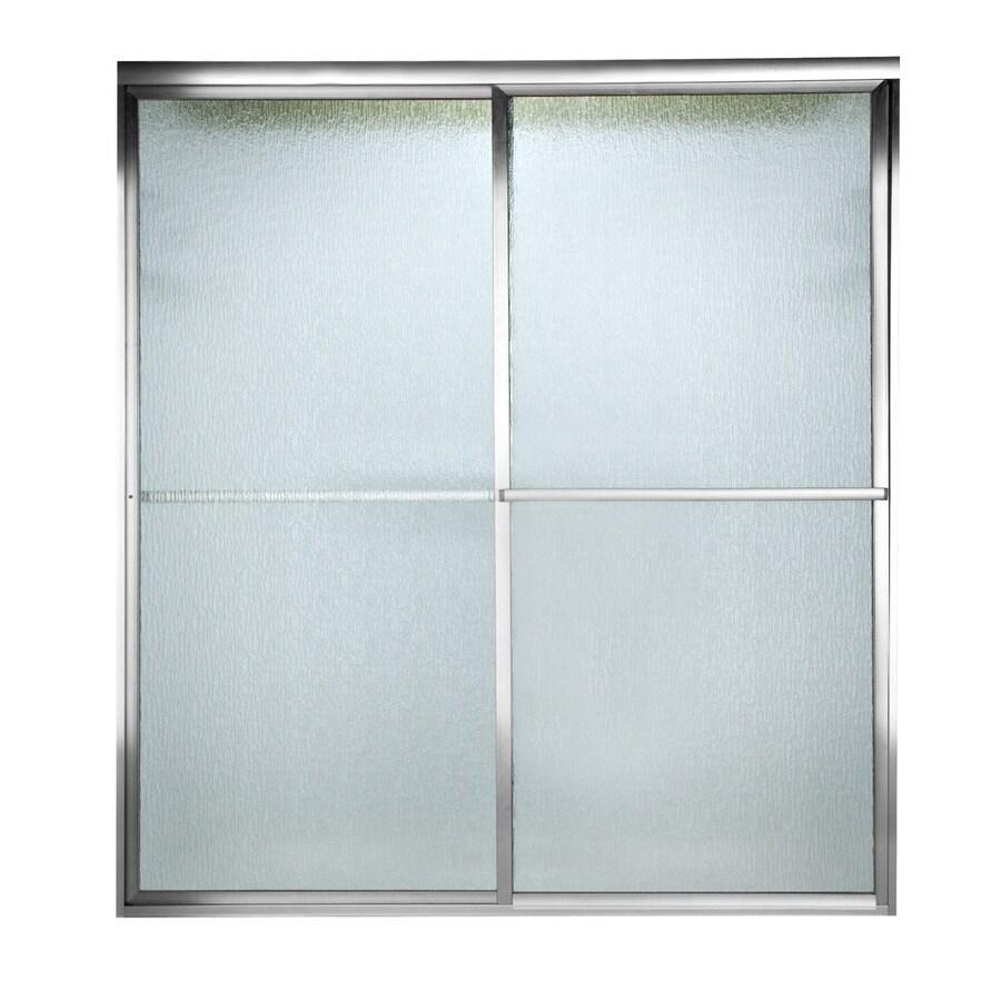 American Standard Prestige 52-in to 54-in W x 68-in H Silver Sliding Shower Door