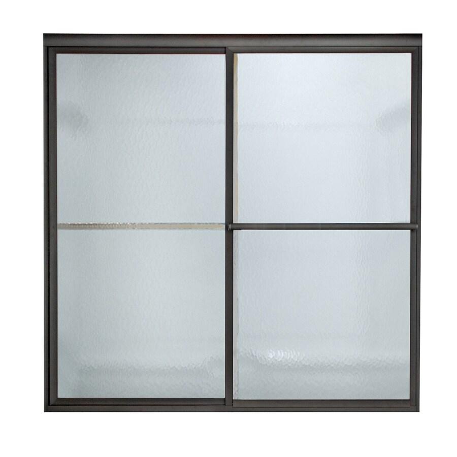 American Standard Prestige 52-in to 54-in W x 68-in H Oil-Rubbed Bronze Sliding Shower Door