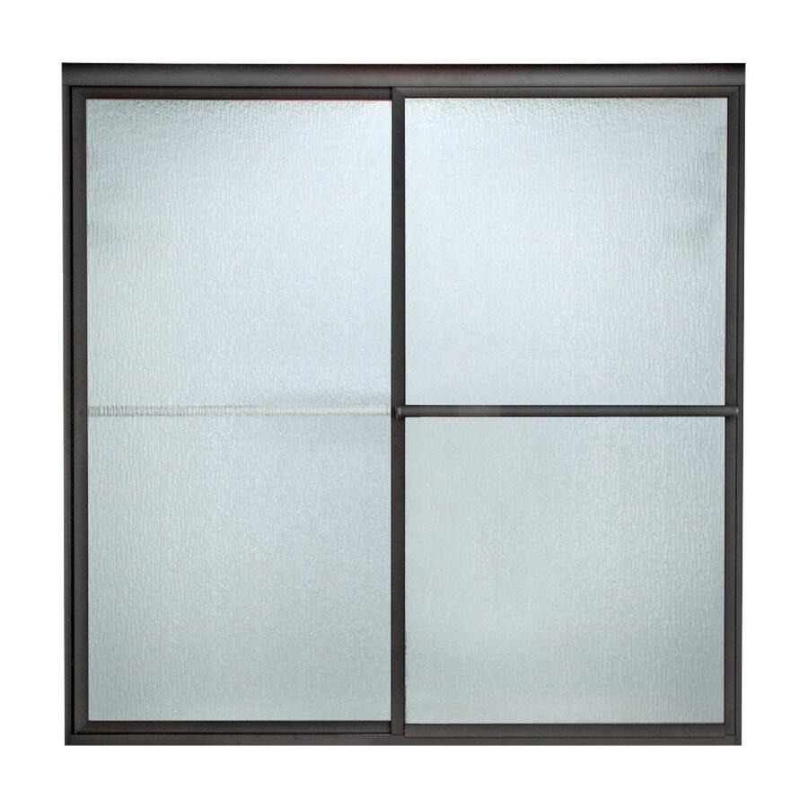 American Standard Prestige 40-in to 42-in W x 71.5-in H Oil-Rubbed Bronze Sliding Shower Door