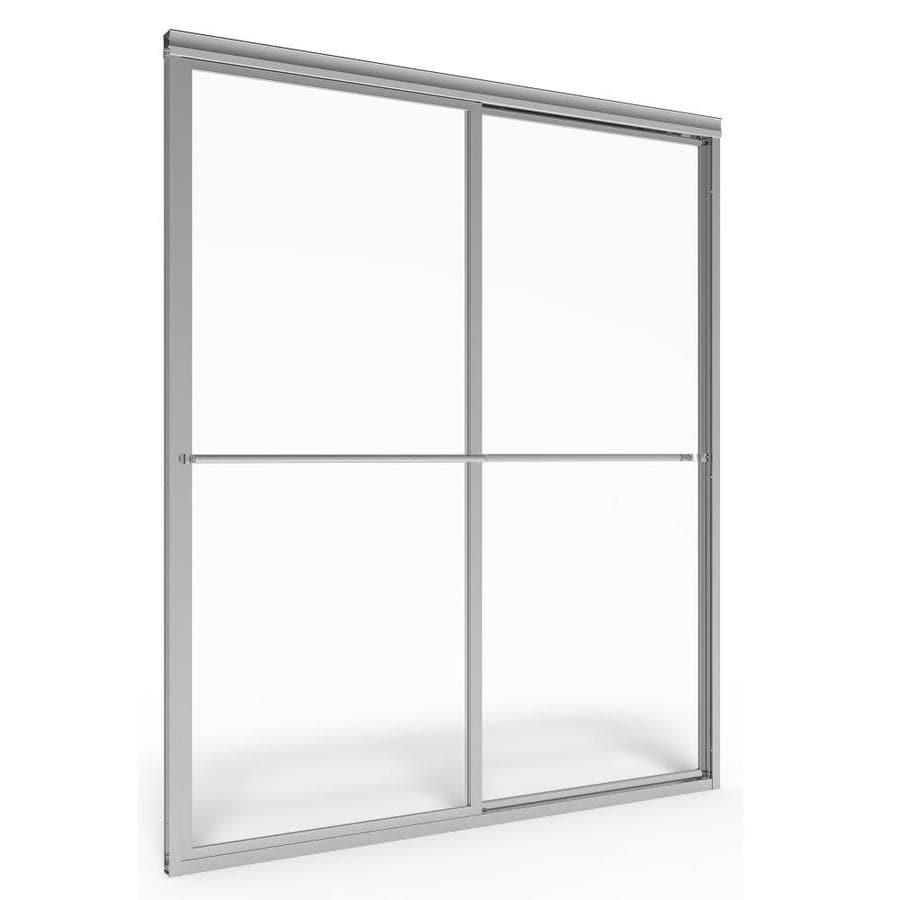 American Standard Prestige 40-in to 42-in W x 71.5-in H Silver Sliding Shower Door