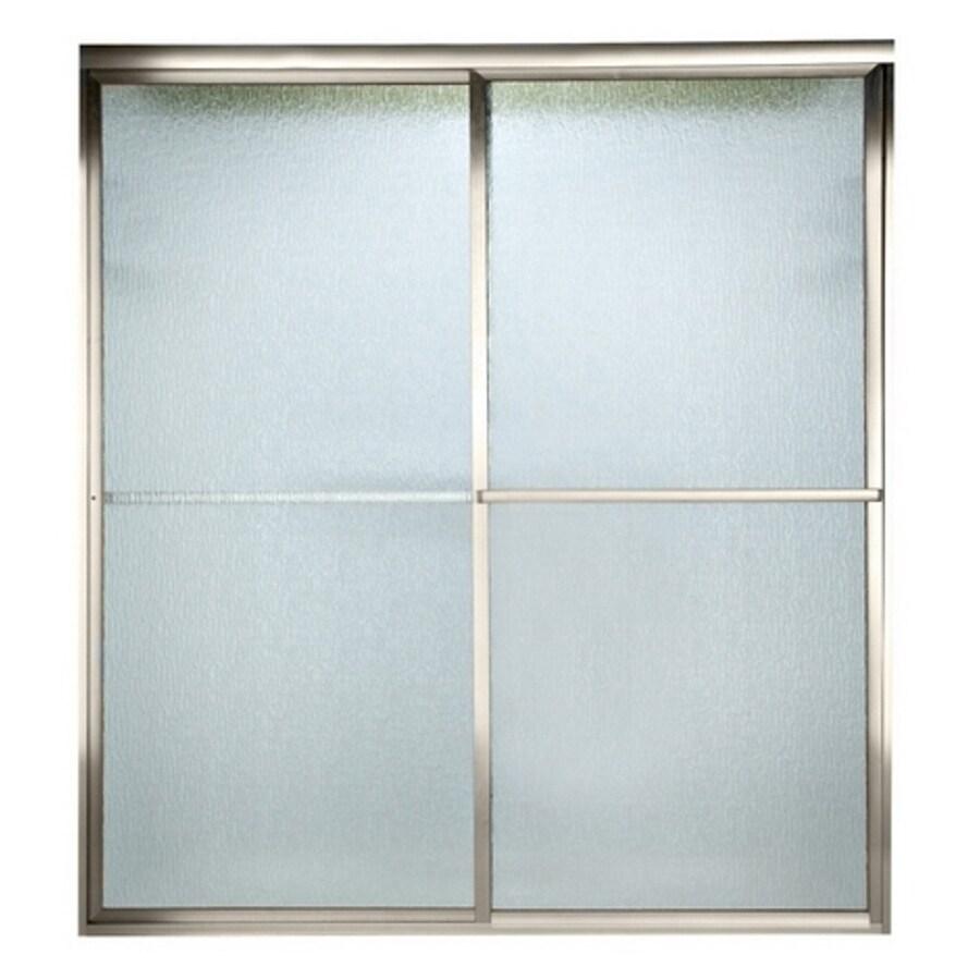 American Standard Prestige 44-in to 46-in W x 68-in H Polished Nickel Sliding Shower Door