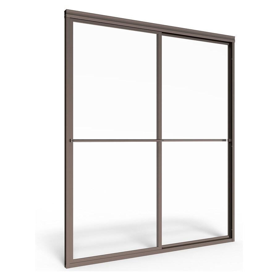 American Standard Prestige 44-in to 46-in W x 68-in H Oil-Rubbed Bronze Sliding Shower Door