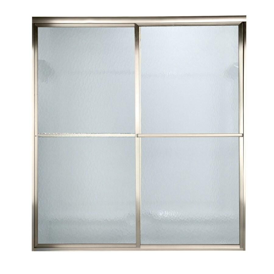 American Standard Prestige 56-in to 60-in W x 71.5-in H Brushed Nickel Sliding Shower Door