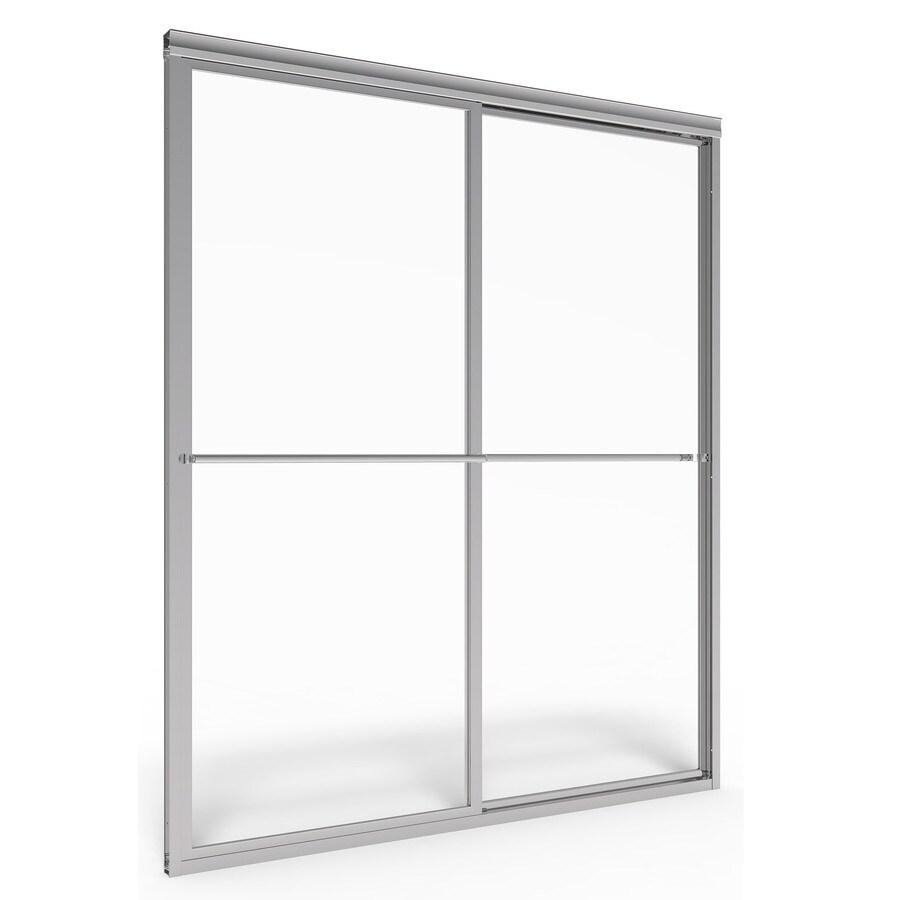 American Standard Prestige 56-in to 60-in W x 68-in H Silver Sliding Shower Door