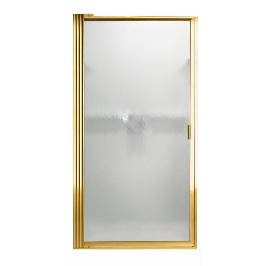 American Standard 24.25-in to 26-in Polished Brass Pivot Shower Door