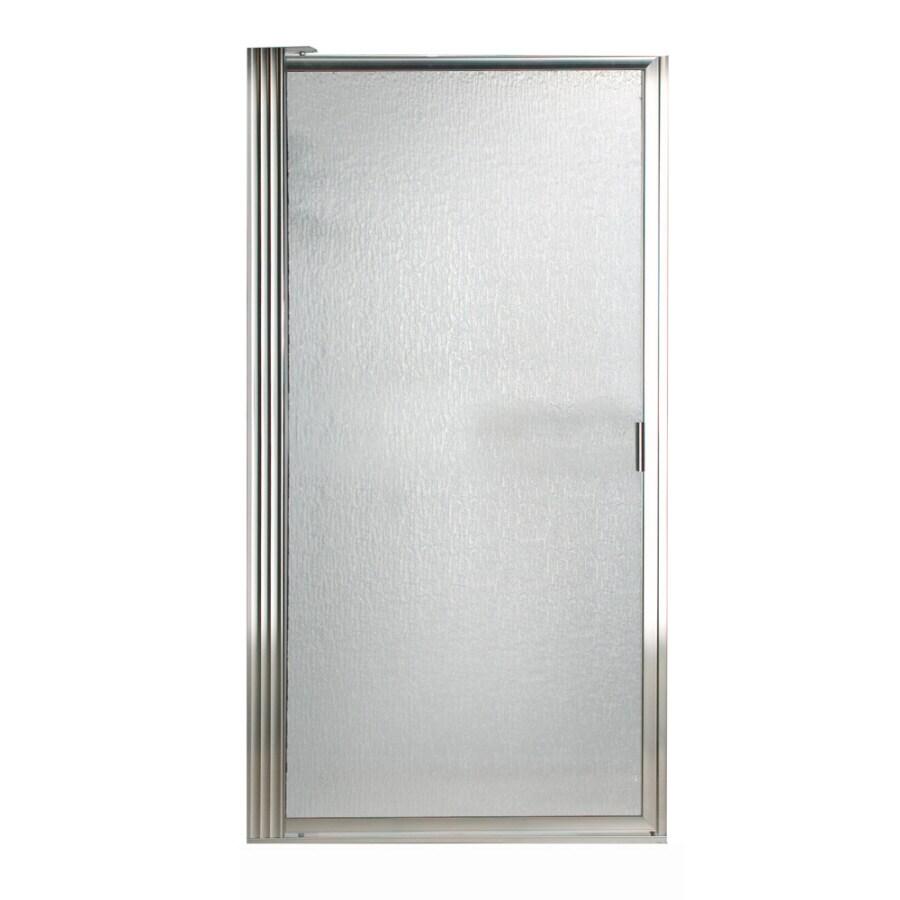 American Standard 27-1/4-in to 29-in Silver Framed Pivot Shower Door