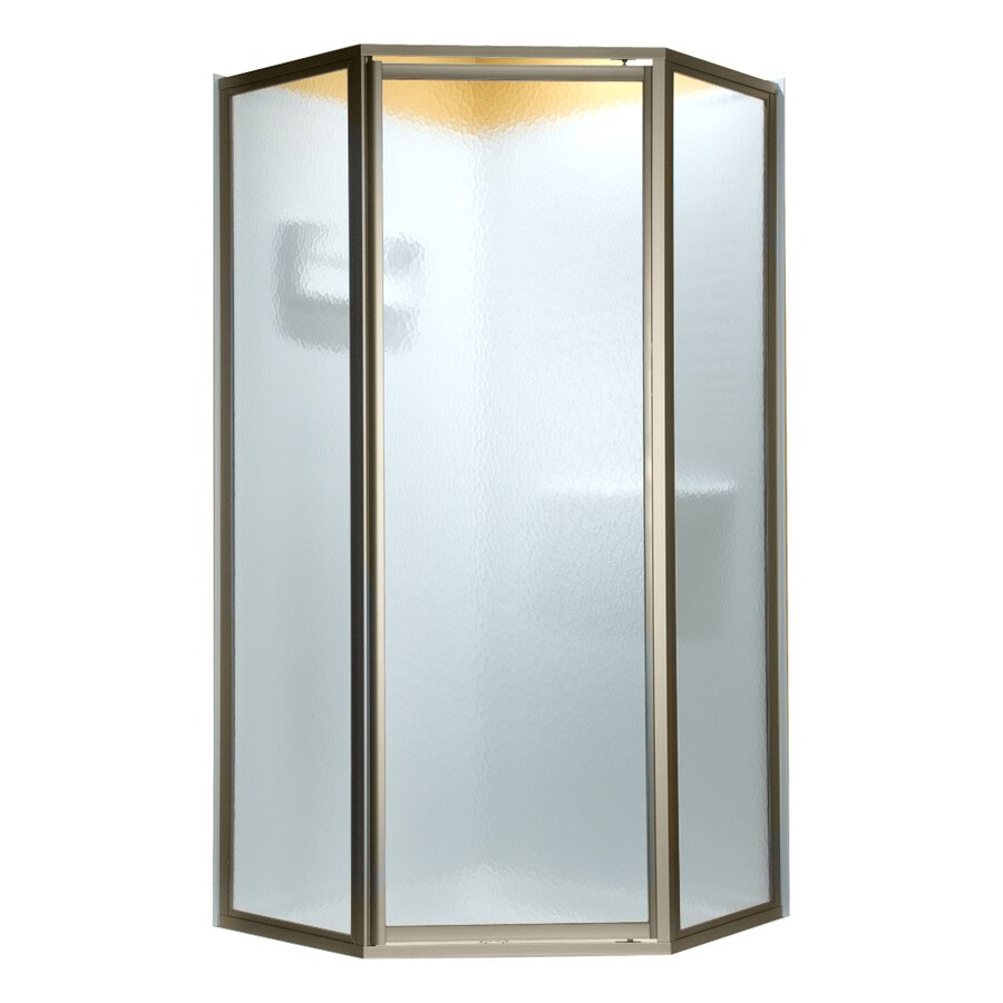 American Standard 61-in W x 68-1/2-in H Polished Nickel Neo-Angle Shower Door