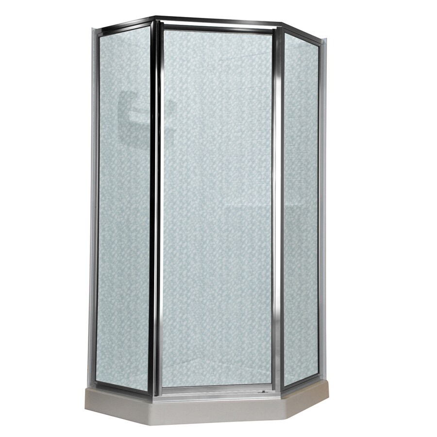 American Standard 57-in W x 68-1/2-in H Silver Neo-Angle Shower Door