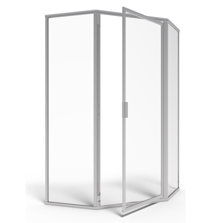 American Standard 69-in W x 68-1/2-in H Silver Neo-Angle Shower Door