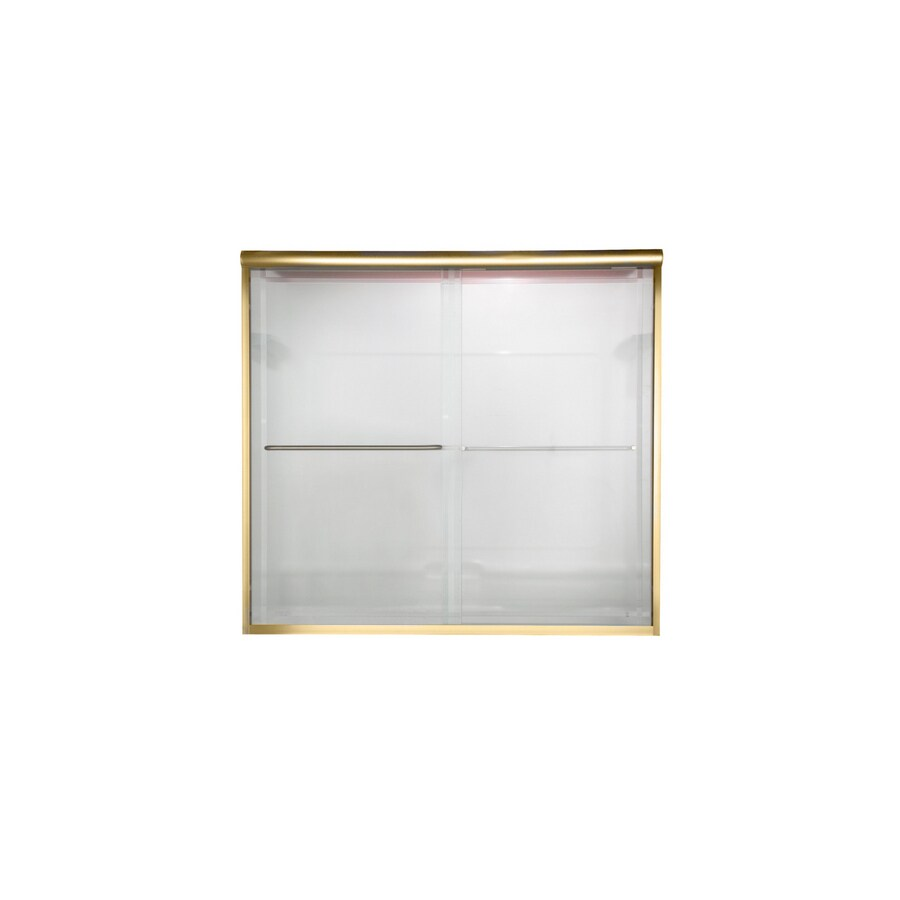 American Standard Euro 44-in to 48-in W x 70-in H Polished Brass Sliding Shower Door