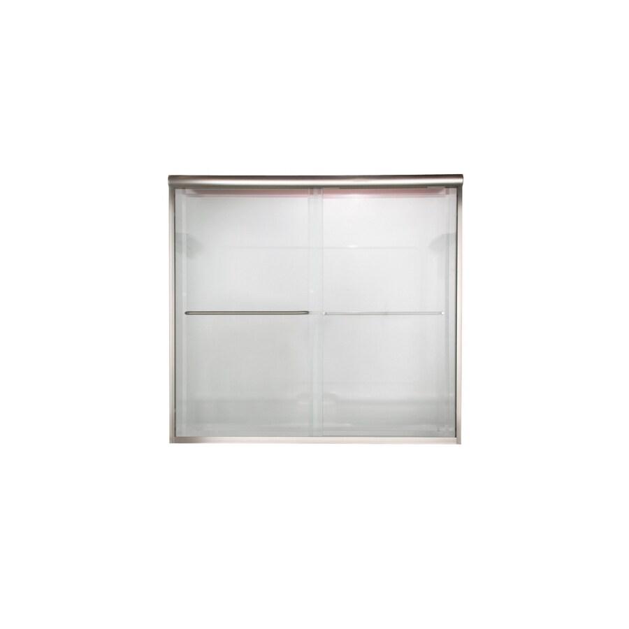 American Standard Euro 56-in to 60-in W x 70-in H Polished Nickel Sliding Shower Door