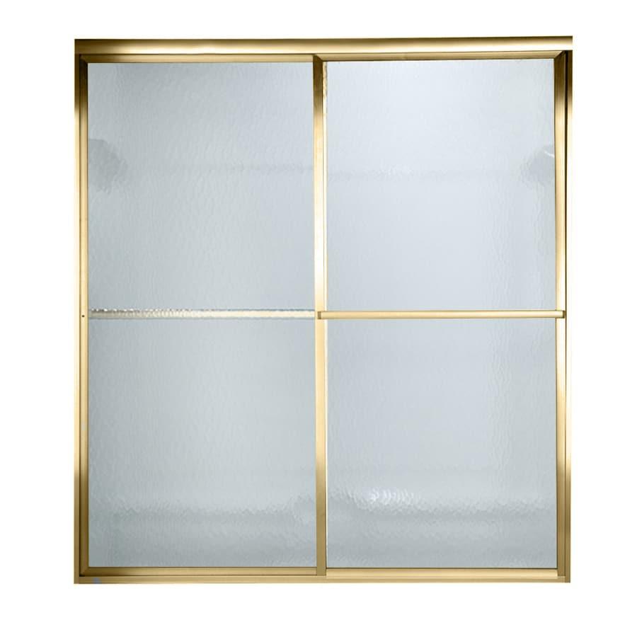 American Standard Prestige 40-in to 42-in W x 68-in H Polished Brass Sliding Shower Door