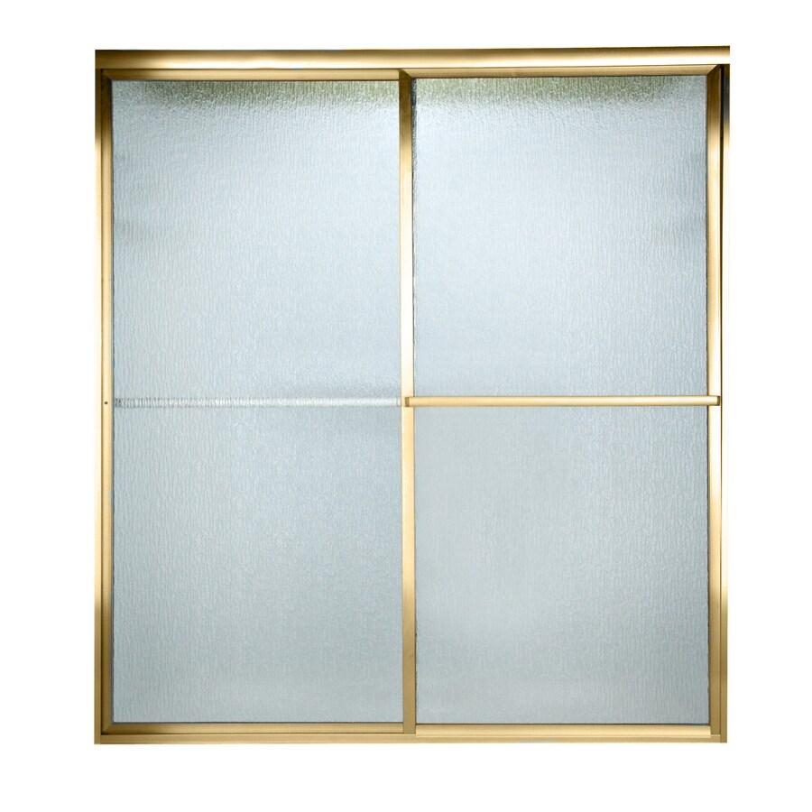 American Standard Prestige 46-in to 48-in W x 68-in H Polished Brass Sliding Shower Door