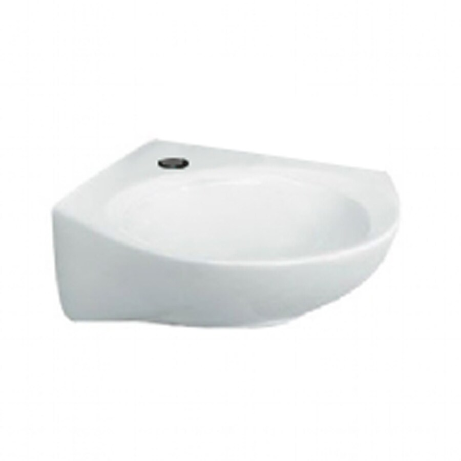 ... Standard Cornice White Wall-Mount Square Bathroom Sink with Overflow