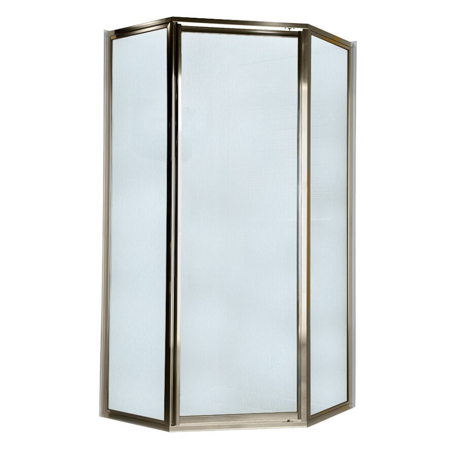 American Standard 69-in W x 68-1/2-in H Polished Nickel Neo-Angle Shower Door