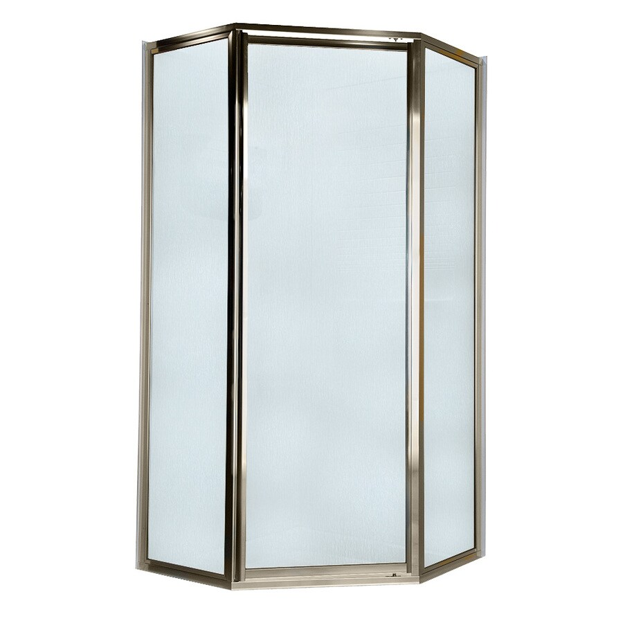 American Standard 69-in W x 68-1/2-in H Brushed Nickel Neo-Angle Shower Door