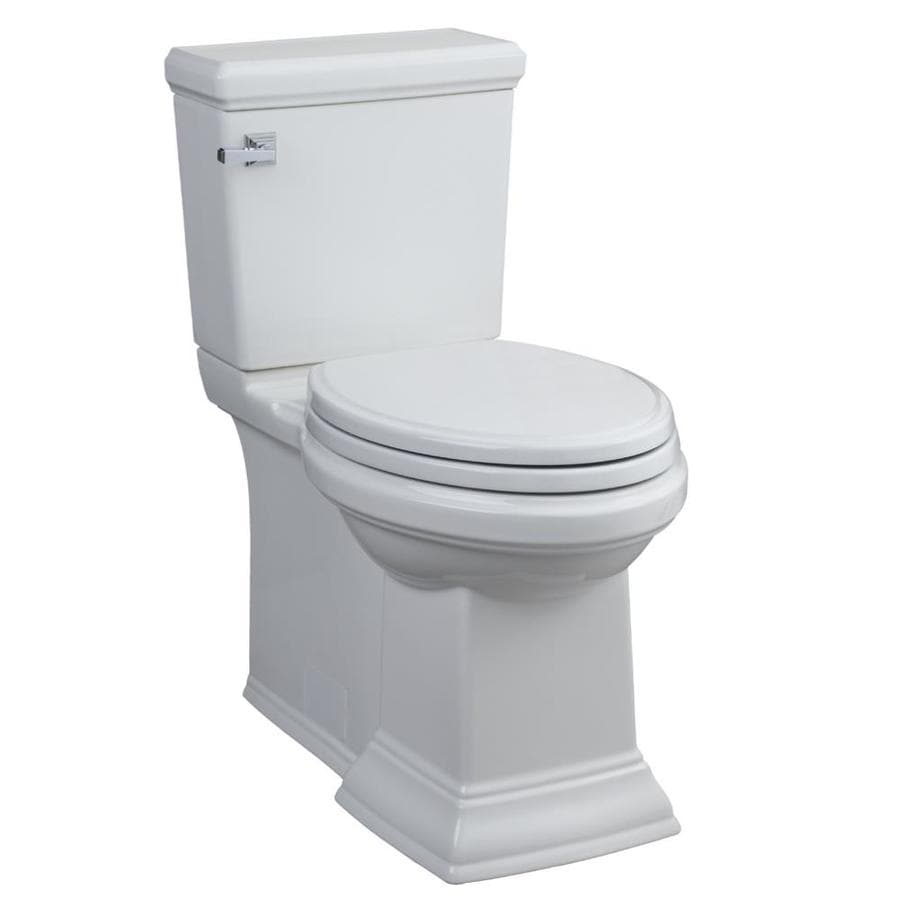 American Standard Town Square White 1.6-GPF (6.06-LPF) 12-in Rough-In WaterSense Elongated 2-Piece Comfort Height Toilet