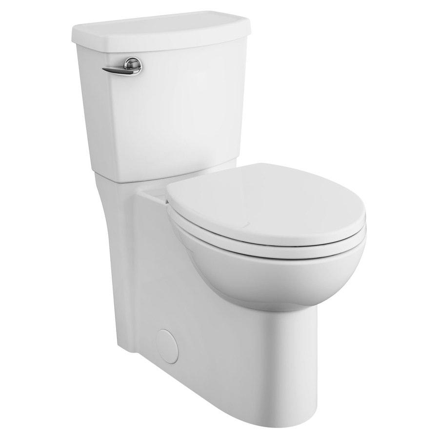 American Standard Cadet 3 White 1.28 GPF 12-in Rough-In WaterSense Round 2-Piece Comfort Height Toilet