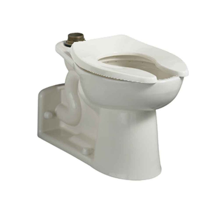 American Standard Priolo Chair Height White 12-in Rough-In Pressure Assist Elongated Toilet Bowl