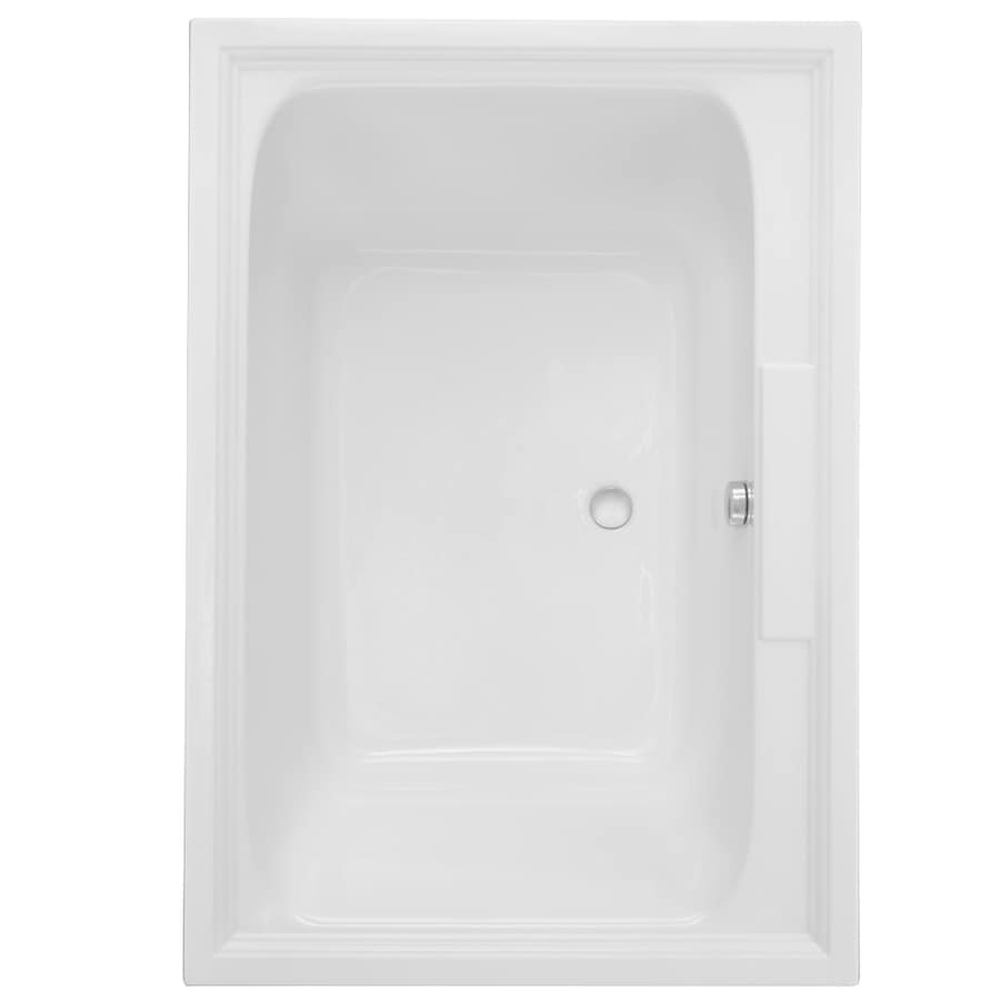 American Standard Town Square 59.5-in L x 41.625-in W x 23-in H Arctic White Acrylic 2-Person Rectangular Drop-in Air Bath