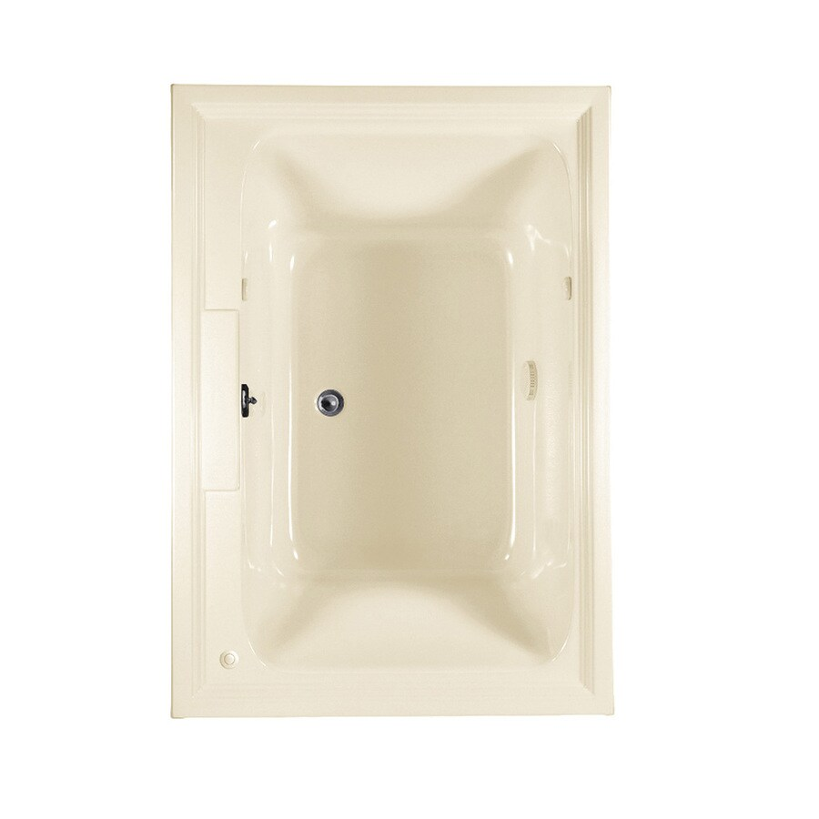 American Standard Town Square 59.5-in L x 41.625-in W x 23-in H Linen Acrylic 2-Person Rectangular Drop-in Air Bath