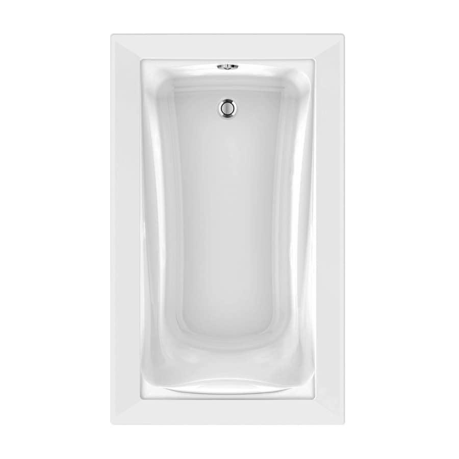 American Standard Green Tea 60-in L x 36-in W x 21-in H White Acrylic Rectangular Drop-in Air Bath