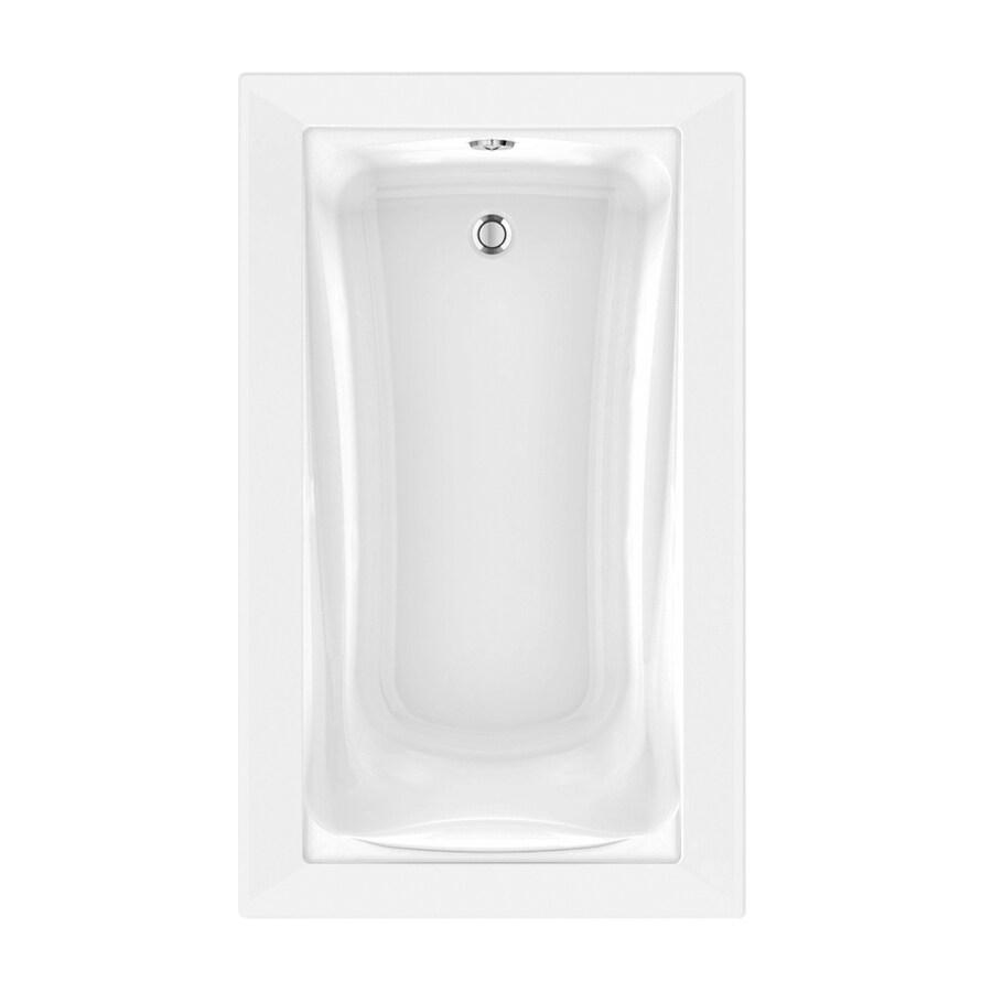 American Standard Green Tea 60-in L x 36-in W x 21-in H Arctic White Acrylic Rectangular Drop-in Air Bath