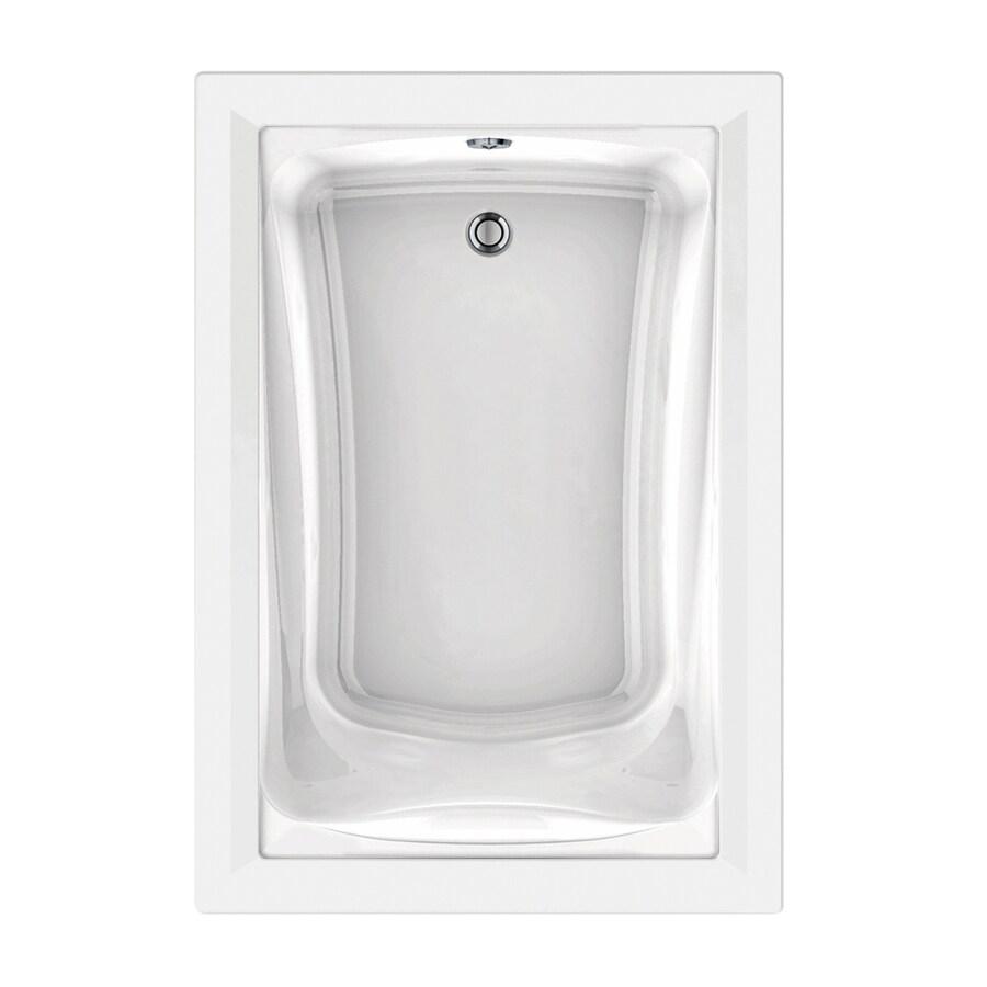 American Standard Green Tea 60-in L x 42-in W x 21-in H White Acrylic Rectangular Drop-in Air Bath