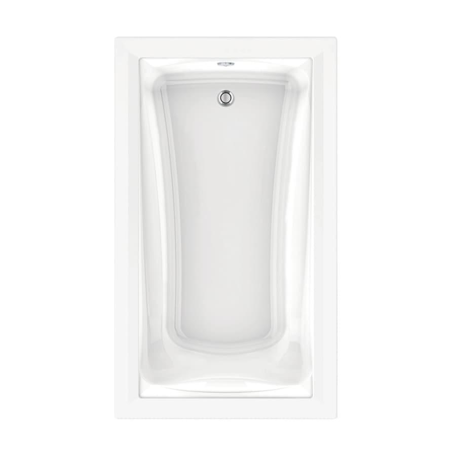 American Standard Green Tea 72-in L x 42-in W x 21-in H Arctic White Acrylic Rectangular Drop-in Air Bath
