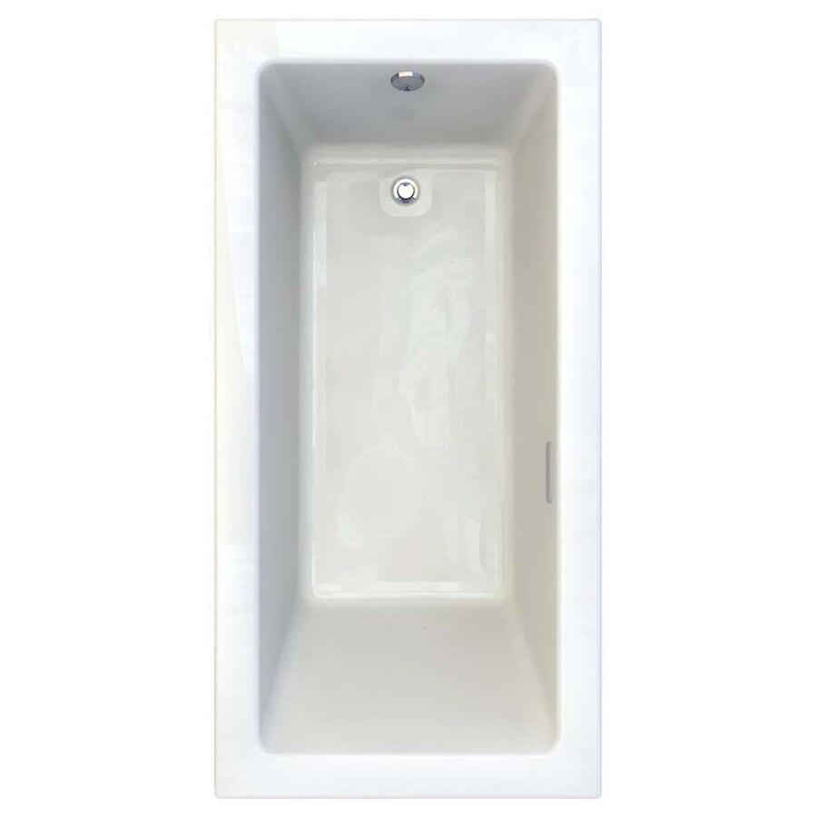 American Standard Studio 71.75-in L x 35.75-in W x 22.5-in H White Acrylic Rectangular Drop-in Air Bath
