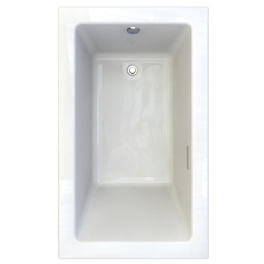 American Standard Studio 59.75-in L x 35.75-in W x 22.5-in H White Acrylic Rectangular Drop-in Air Bath