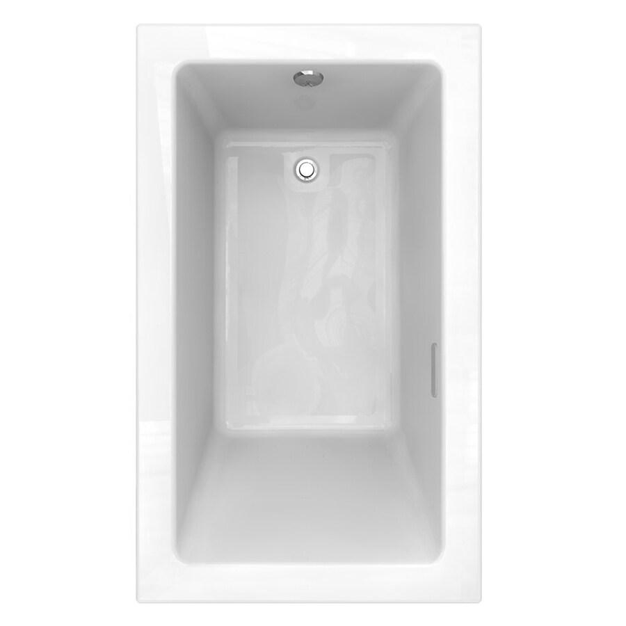 American Standard Studio 59.5-in L x 35.5-in W x 22.5-in H White Acrylic Rectangular Drop-in Air Bath