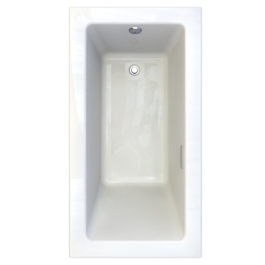 American Standard Studio 59.5-in L x 31.5-in W x 22.5-in H White Acrylic Rectangular Drop-in Air Bath