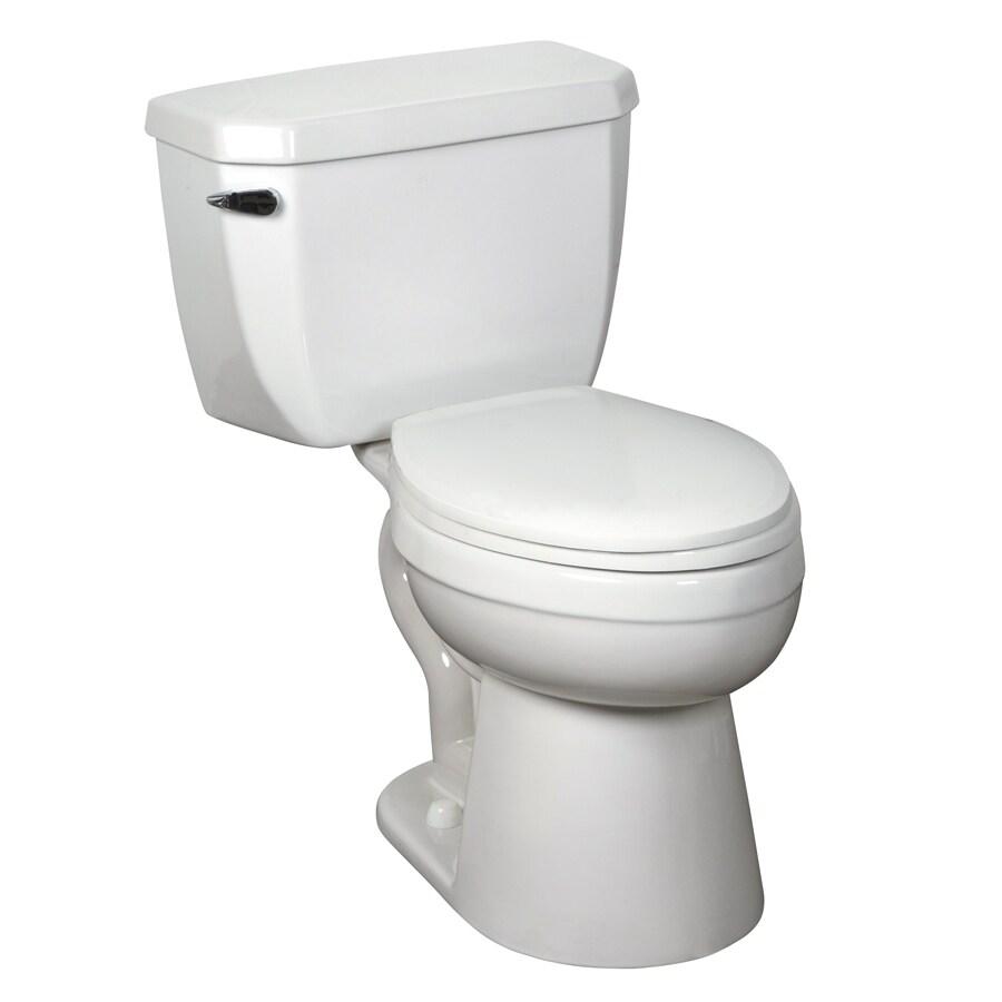 Crane Plumbing Economiser White 1.28-GPF (4.85-LPF) 12-in Rough-in WaterSense Elongated Pressure Assist 2-Piece Comfort Height Toilet