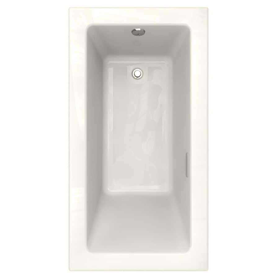 American Standard Studio 59.5-in L x 31.5-in W x 22.5-in H Linen Acrylic Rectangular Drop-in Air Bath