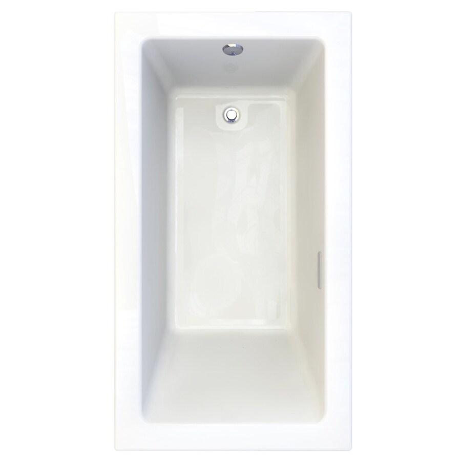 American Standard Studio 65.75-in L x 35.75-in W x 22.5-in H Arctic White Acrylic Rectangular Drop-in Air Bath